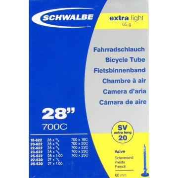 SCHWALBE Chambre a Air 700x18 25c Extra Light