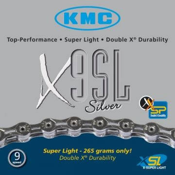 KMC Chaine X9 SL 9v Argent