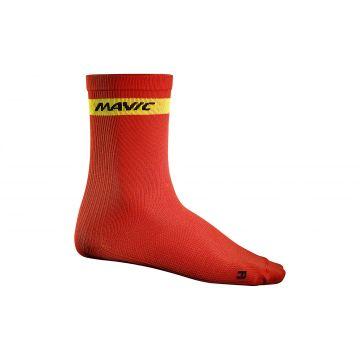MAVIC Chaussettes Hautes Cosmic Rouge