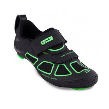 SPIUK Chaussures Triathlon Trivium Noir et Vert