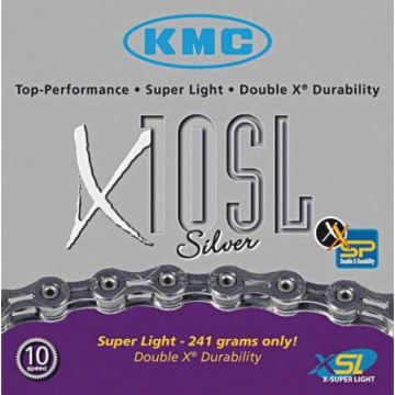 KMC Chaine X10 SL 10 Vitesses Argent
