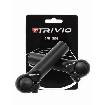 TRIVIO Embout de guidon basic 95MM Noir