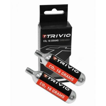 TRIVIO Cartouches Co2 16 Grammes Vendues Par 2