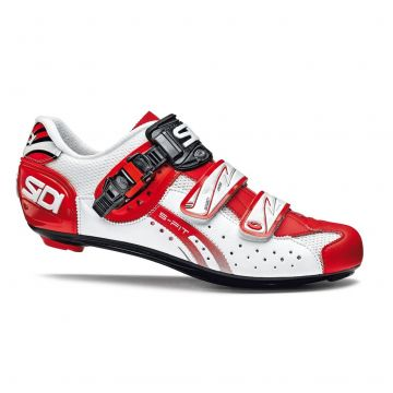 SIDI Chaussures Genius 5 Fit Carbon Blanc Rouge
