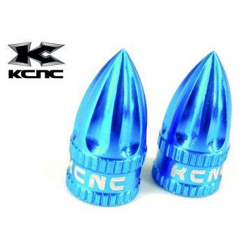 KCNC Bouchons de Valve Schrader Bleu