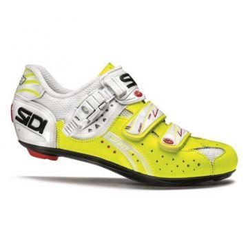 SIDI Chaussures Genius 5 Fit carbon jaune fluo vernie
