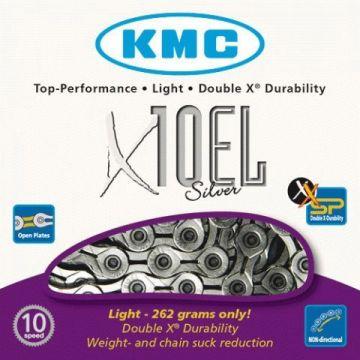 KMC Chaine X10 EL 10 Vitesses Argent