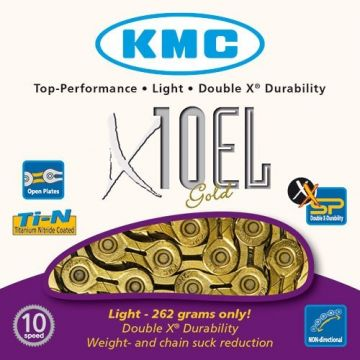 KMC Chaine X10 EL 10v Or