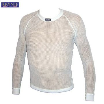 BRYNJE Sous Maillot Manches Longues Thermo Blanc