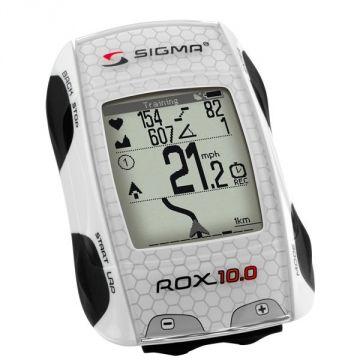 SIGMA Compteur GPS ROX 10.0 Blanc