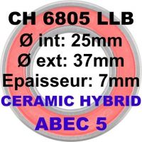 ENDURO Roulements 6805 LLB C3 Ceramique
