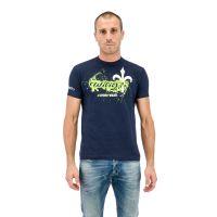 WILIER T-Shirt Schizzo Bleu