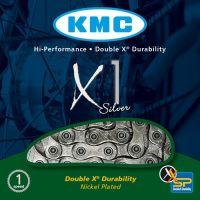 KMC Chaine X1 Single speed silver